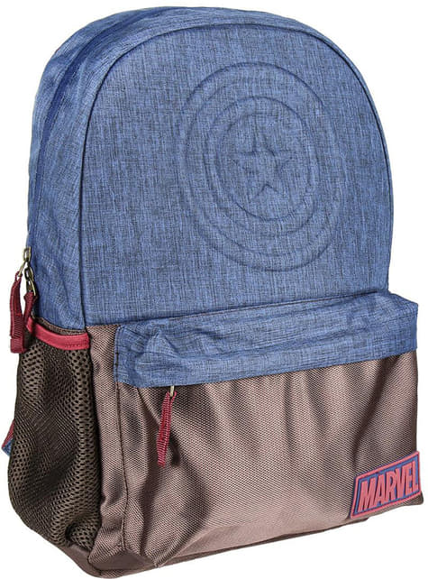 Mochila escolar de Capitán América azul - Los Vengadores