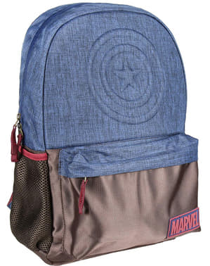 Captain America school backpack in blue - The Avengers
