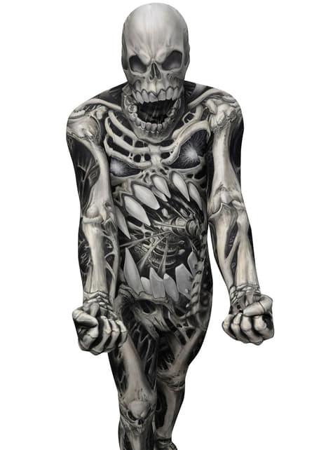 Disfraz de calavera y huesos Monster Collection Morphsuit