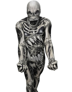 Fato de caveira e ossos Monster Collection Morphsuit
