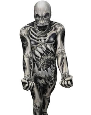 Morphsuit Monster Collection kostuum met doodshoofd en beenderen