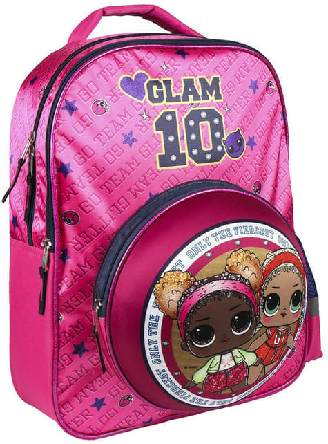 Mochila infantil LOL Surprise Glam 10 para menina