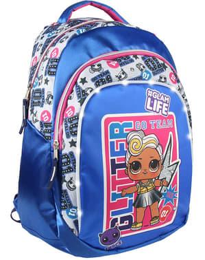 女の子のための青のLOLサプライズスクールバックパック