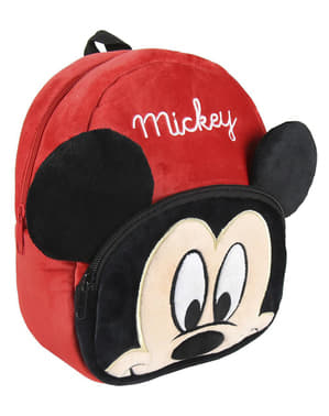Ghiozdan infantil Mickey Mouse roșu cu urechi - Disney