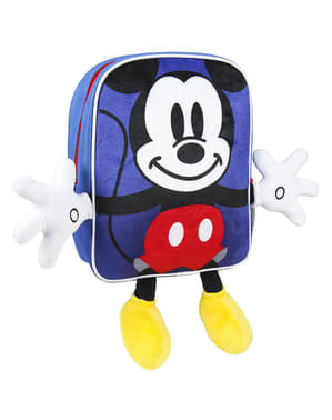 Mochila infantil de Mickey Mouse com mãos e pés - Disney