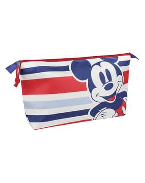 ミッキーマウス、ストライプ付きトイレタリーバッグ - ディズニー