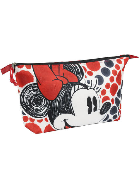 Minnie Mouse toiletry bag red and black
