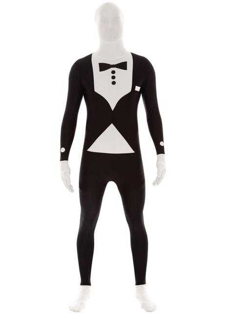 Disfraz de esmoquin negro Morphsuit Msuit
