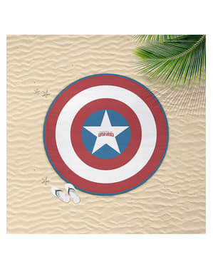 Round Captain America towel for kids - The Avengers