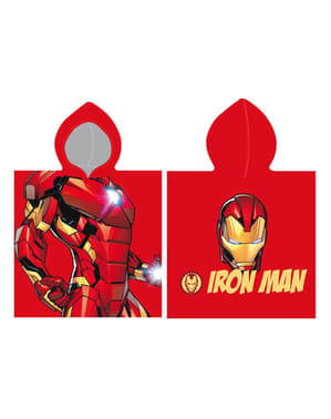Erkekler için kukuleta ile Iron Man havlu - Yenilmezler