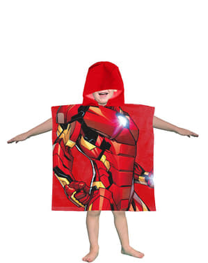 Serviette de plage Iron Man à capuche garçon - Avengers