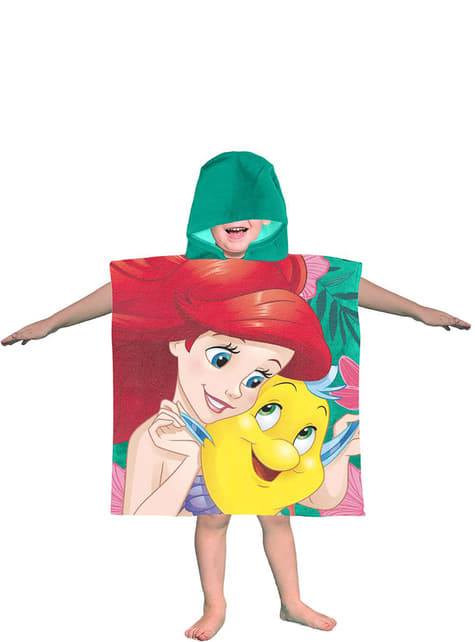 Toalla con capucha de La Sirenita para niña - Disney - oficial