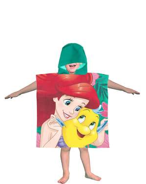 מגבת בת הים הקטנה עם ברדס לנערות - דיסני