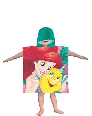 女の子のためのフード付きリトルマーメイドタオル - ディズニー