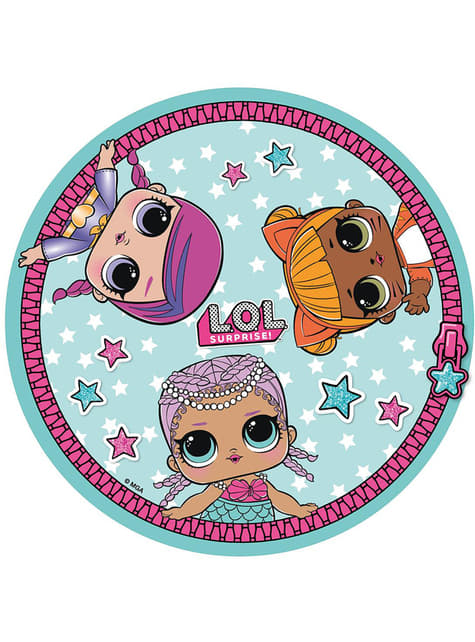 Round LOL Surprise towel for girls
