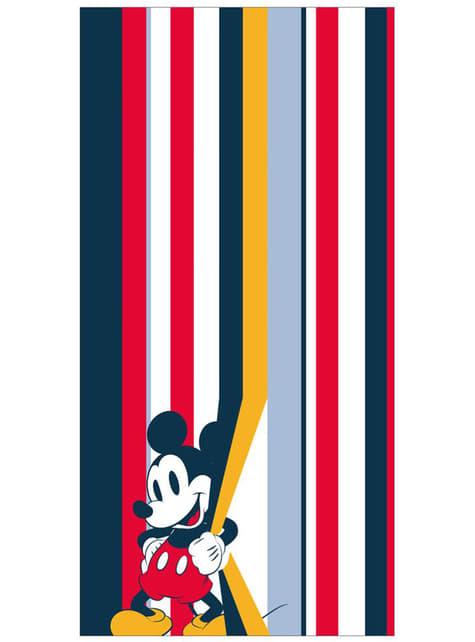 Serviette de plage Mickey Mouse à rayures adulte - Disney