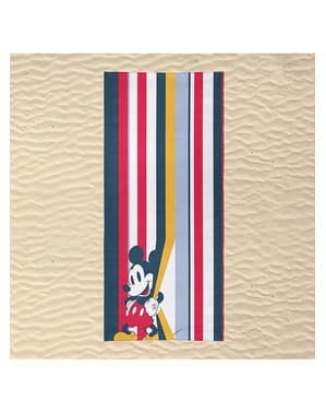 Serviette de plage Mickey Mouse à rayures adulte - Disney