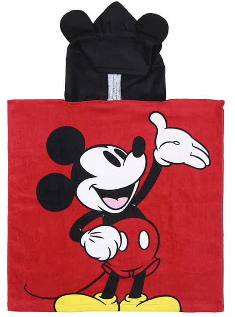 Serviette de plage à capuche Mickey Mouse garçon - Disney