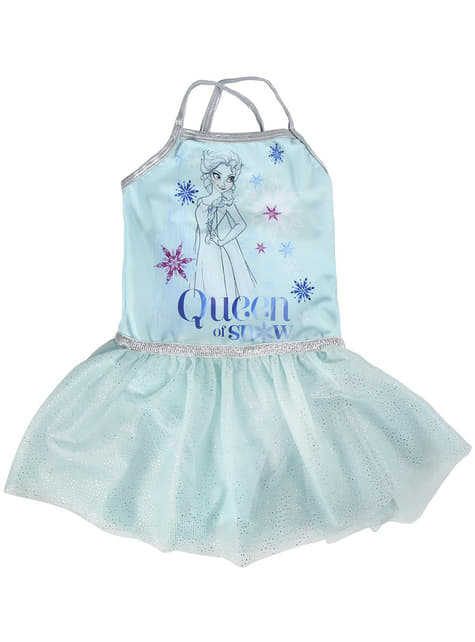 Vestido de Elsa azul para niña - Frozen