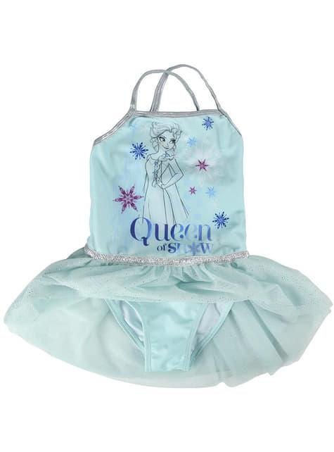 Vestido de Elsa azul para menina - Frozen