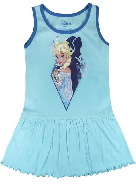 Vestido de Elsa azul tirantes para niña - Frozen