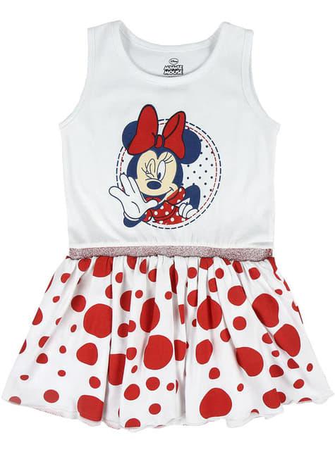Vestido de Minnie Mouse com pintas para menina - Disney