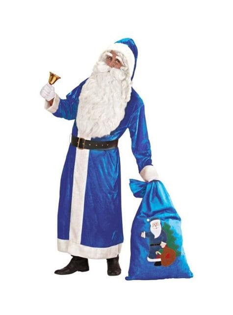 Disfraz de Papá Noel azul del Polo Norte