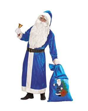 Father Christmas from the North Pole blue costume