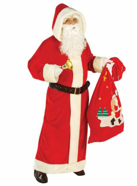 Strój Święty Mikołaj z Bieguna Północnego czerwony