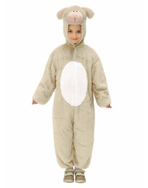 Lamb soft toy costume for a girl