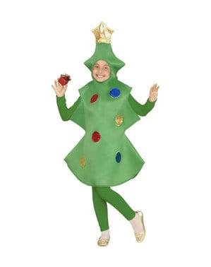 Disfraz de abeto navideño para niña