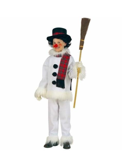 Disfraz de muñeco de nieve navideño para niño