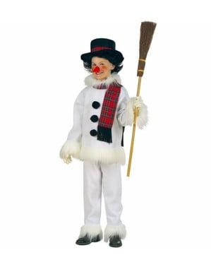 Fato de boneco de neve natalício para menino