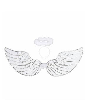 Kit de anjo com lantejoulas