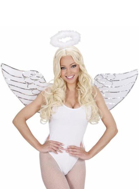 Kit de ángel con lentejuelas - para tu disfraz