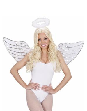 Sæt med engel med pailletter