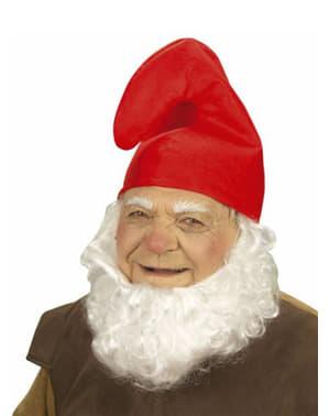 Червена шапка на джудже