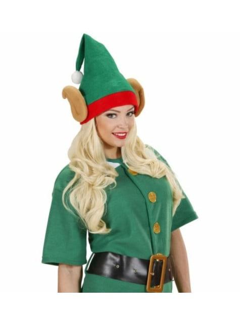 Sombrero de elfo ayudante de Papá Noel con orejas