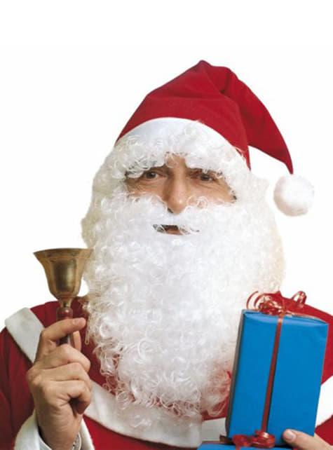 Julenisse Sett med Hatte Skjegg med Bart og Øyenbryn