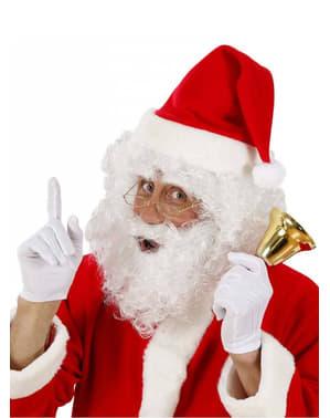 Sæt med julemandsparyk og krøllet skæg