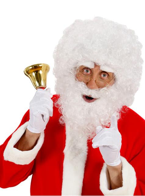 Kit Papá Noel peluca y barba rizada - para tu disfraz