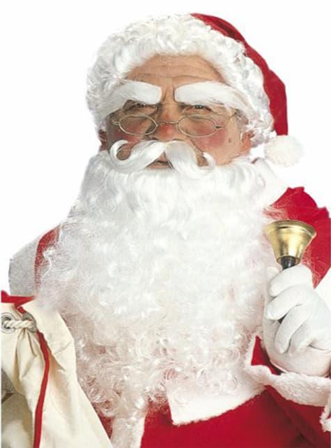 Kit Papá Noel gorro con pelo y vello facial