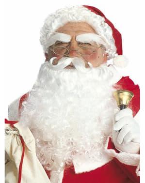 Weihnachtsmann Set: Mütze mit Haaren und Gesichtsbehaarung