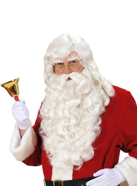 Kit Papá Noel peluca y barba ondulada
