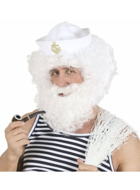Alter Seemann Perücke und Bart