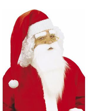 Barba do Pai Natal com bigode e sobrancelhas