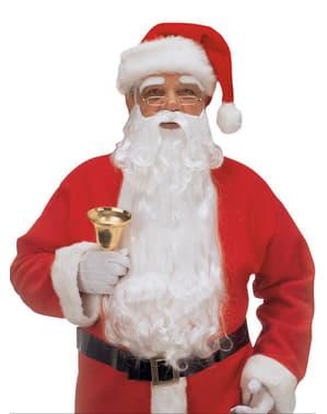 Joulupukin pitkä parta ja kulmakarvat