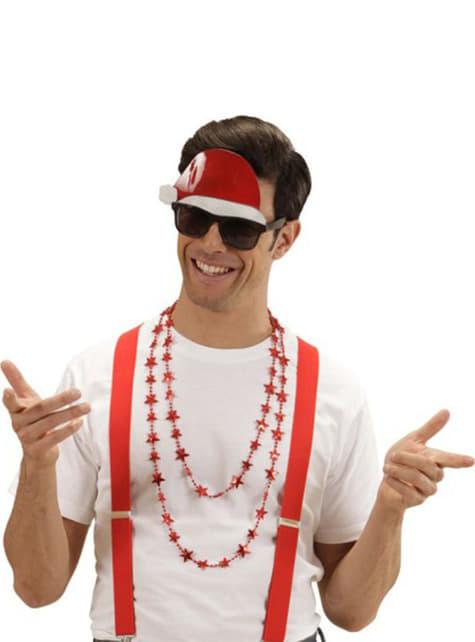 Okulary Święty Mikołaj z czapką