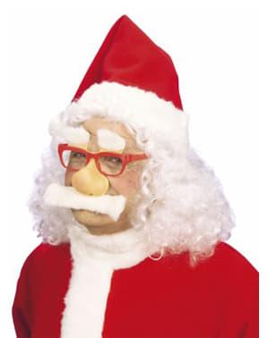 Óculos do Pai Natal com nariz