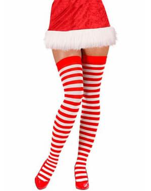 Meias-calças de ajudante do Pai Natal tamanho grande